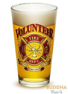 Erazor-Bits-Volunteer-Firefighter-Set-of-2-Large-Pint-Glasses-16oz-Drinkware
