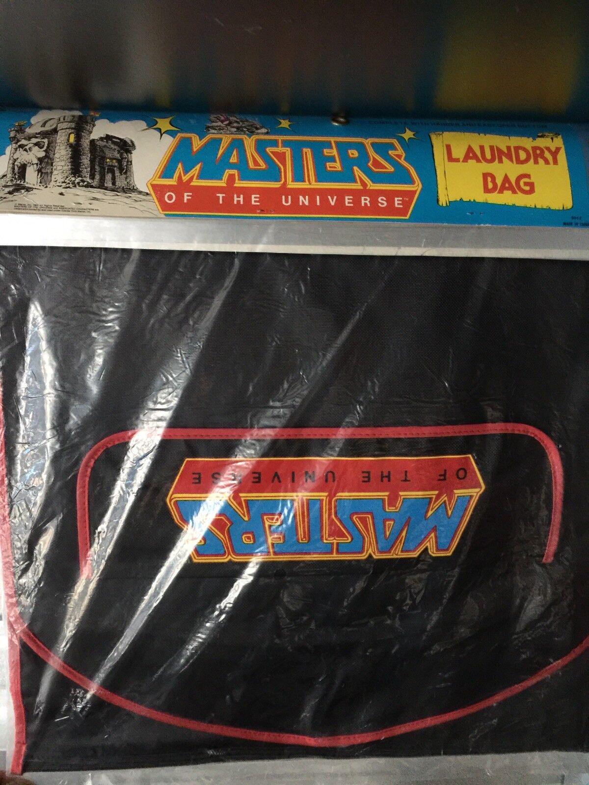MASTERS OF THE UNIVERSE MOTU LAUNDRY BAG MATTEL HE-MAN SKELETOR rosso MOC