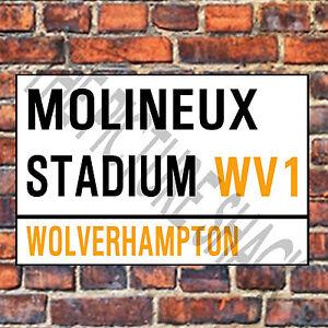 WOLVERHAMPTON-WANDERERS-STREET-SIGN-ON-A-TEA-COFFEE-COASTER-MOLINEUX-9cm-X-9cm