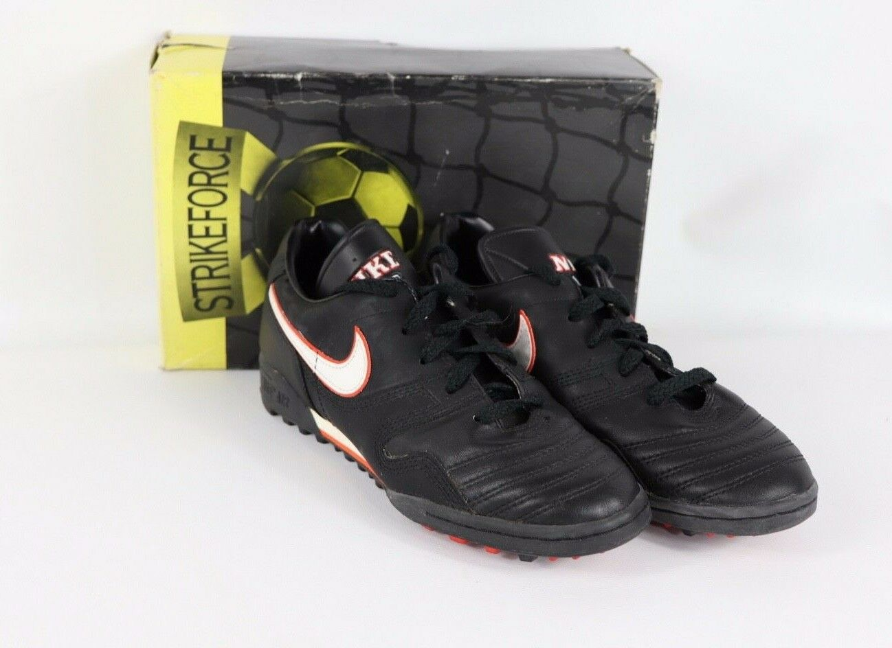 Vtg 90s New Nike Mens 7.5 Firestrike Spell Out Indoor Turf Soccer shoes Trainers