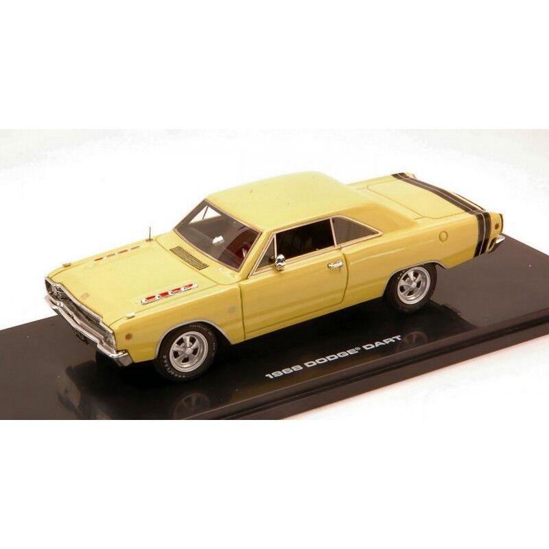 Die autobahn 61 hgw43007 dodge dart gts 1968 sunfire gelb 1 43 modell druckguss