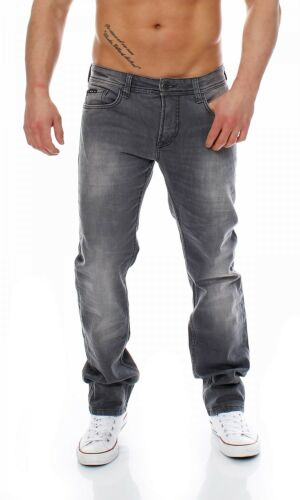 Big SEVEN-Jake-Madison WASH-Regular-Stretch-Grigio Uomo Jeans Pantaloni