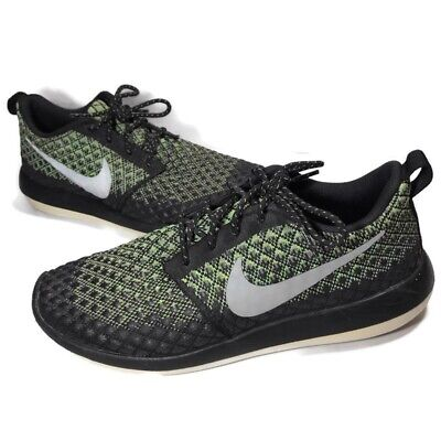 sports shoes later timeless design Nike Roshe Two Flyknit 365 Mens Size 9 Running Shoes Black Green ...