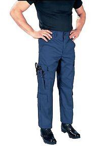 Rothco Navy Blue Tactical 9 Pocket EMS Uniform Apparel EMT Pants all ... 0bd784a548a