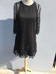 Robe Zara Noir S Dentelle