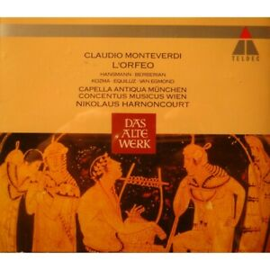 HARNONCOURT-CAPELLA-ANTIQUA-MUNCHEN-l-039-orfeo-MONTEVERDI-2CD-039-s-Box-1992-Teldec
