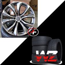 """22"""" Rims 451 Style fits BMW X5 X6 X5M X6M Gunmetal Machined Wheels & Tires 5X120"""