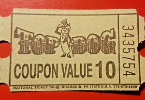 5 TOP DOG (closed) VIDEO ARCADE GAME PRIZE TICKETS ...