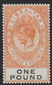 Gibraltar-stamps-1925-SG-107-MLH-VF