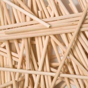 Round Wood Lollipop Sticks 280mm X 6.5mm X100 Garden Plant Cane Support