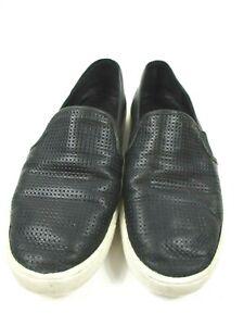 VINCE-034-Blair-034-Black-Leather-Slip-On-Sneakers-Sz-7-5