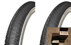 "2 PAIR OF DURO 20/"" X 1.75/"" BLACK // WHITE WALL BICYCLE TIRES BMX BIKE 2 Tubes"