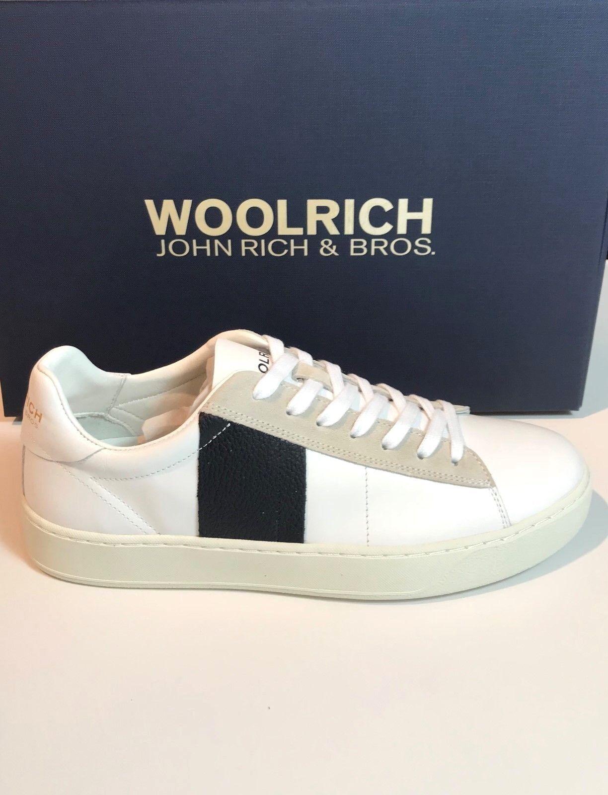 Woolrich SCARPE  Uomo ART. W2030412 calf leather white tanned blue vibram  2018