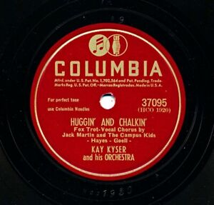 KAY KYSER and his Orchestra on 1946 Columbia 37095 - Huggin' and Chaulkin'