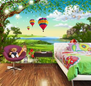 3D Kaninchen Pilz Ballon 743 Tapete Wandgemälde Tapete Tapeten Bild Familie DE