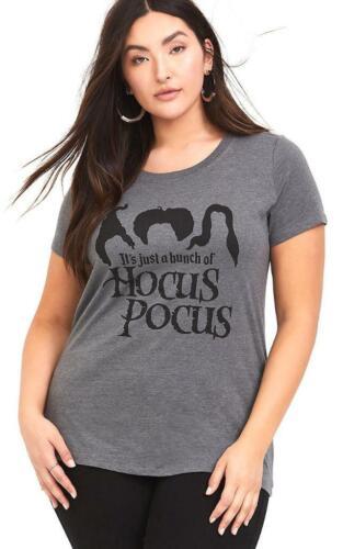 1X or 2X Disney Torrid Hocus Pocus Witches Punk Gothic Graphic Crew Tee T shirt