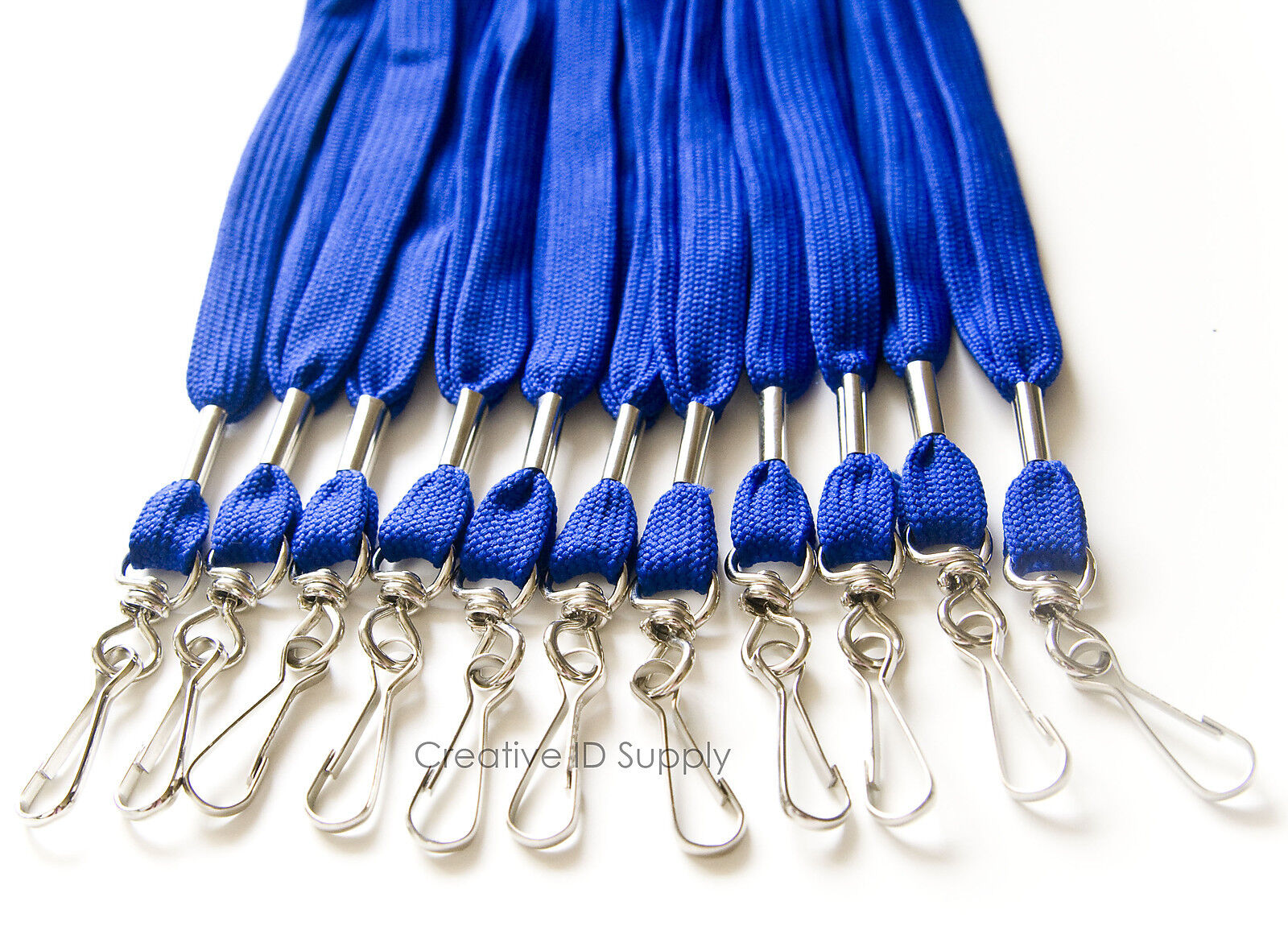 100 Piezas Royal insignia de nombre de identificación de color azul correa de cuello acolladores Giratoria Gancho J
