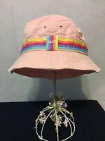 In Bag Small-medium Baby Gap Girl's 100% Cotton Pink Bucket Hat