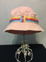 In Bag Small-medium Baby Gap Girl's 100% Cotton Pink Bucket Hat
