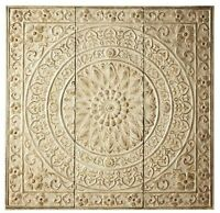 Home Decorators Amaryllis Metal Wall Decor In Distressed Cream - - No Tax