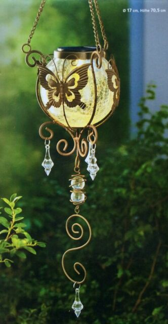 Teelichthalter Schmetterling NEU mit Glaskugel Kerzenhalter