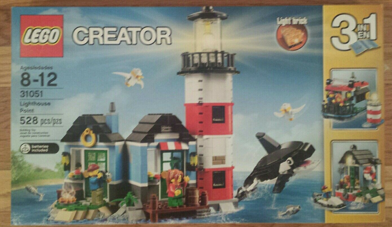 LEGO Creator 31051 Lighthouse Point Avec Lumière Brique 3 jeux en 1 neuf non ouvert