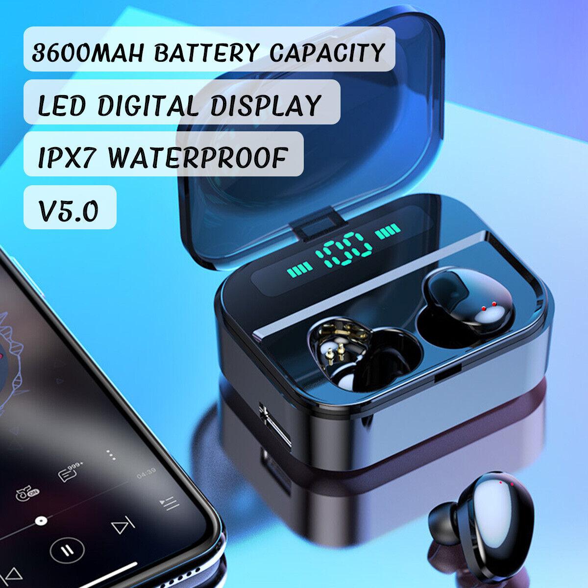 F9 bluetooth 5.0 TWS Inalámbrico Auriculares LED Impermeable Para iPhone nuevo 4