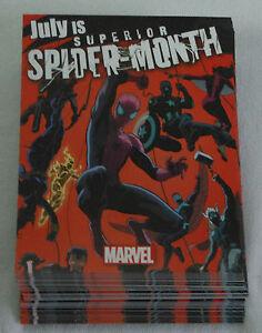 Dealer-039-s-Lot-61-comic-promo-cards-2013-Marvel-Superior-Spider-Month-Spider-Man