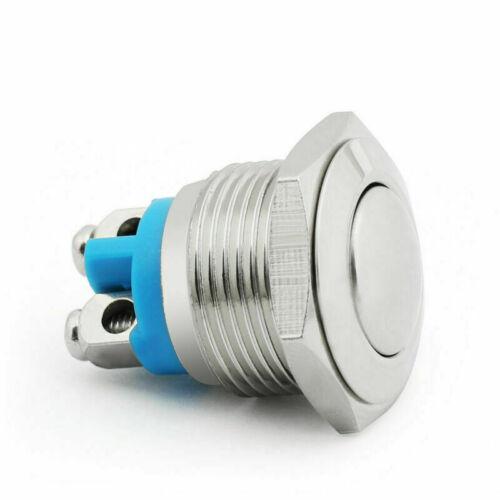 12mm//16mm//19mm Metall Taster SchalterTaster Schraube Terminals Für Auto//Boat DE