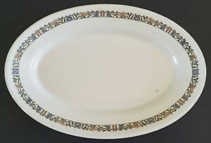 "Iroquois China Pembrook Design Oval Serving Platter 12"" Retro Diner Restaurant"