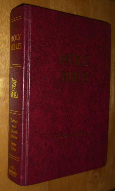 The New American Bible: School & Church Large Print Fireside