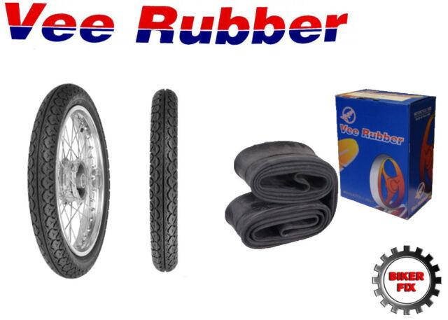 Vee Rubber Tyre 350-16 and Heavy Duty Inner Tube Yamaha SR 125 Rear Tire
