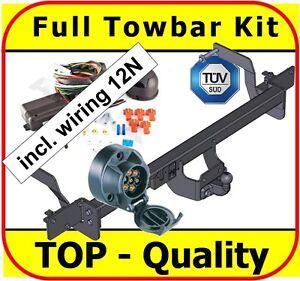 Towbar & Electric 7pin 12N Citroen Jumper Van L1 L2 L3 2006 - ON Full Towbar Kit