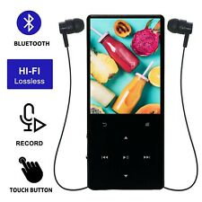 MP3 Player with Bluetooth Music 8GB Touch Button Lossless Sound Build-in Speaker