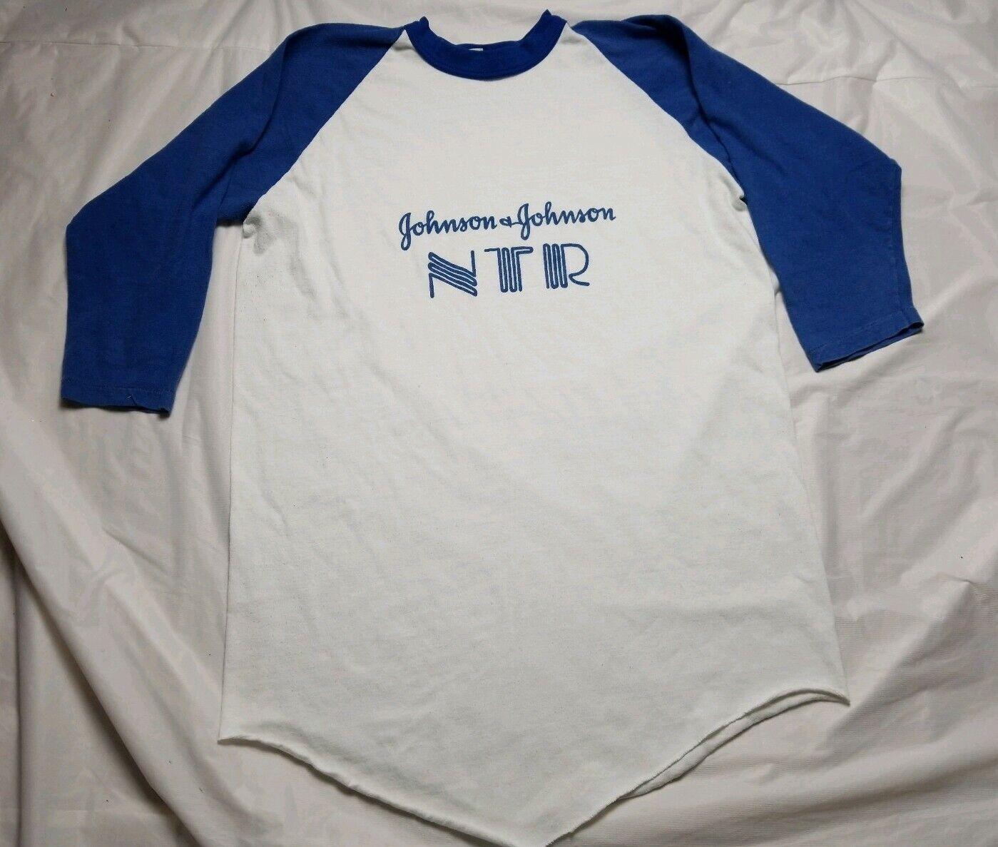 Vintage 70s Johnson And Johnson Promotional Rare  BASEBALL hemd
