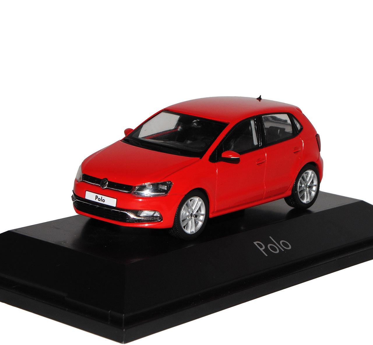VW Volkswagen Polo Rouge 5 porte modèle modèle modèle à partir de 2009 à Partir Facelift 2014 v Type 6 C 1 43 H.. bb9c96