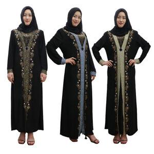 Dubai-Abaya-Muslim-Women-Long-Sleeve-Maxi-Dress-Cocktail-Gown-Arab-Kaftan-Jilbab