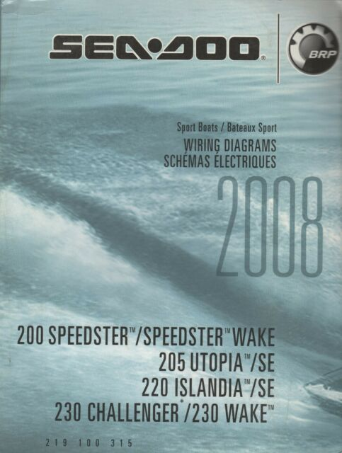 2008 Sea Doo Sport Boats Wiring Diagrams Service Manual P  N 219 100 315  656