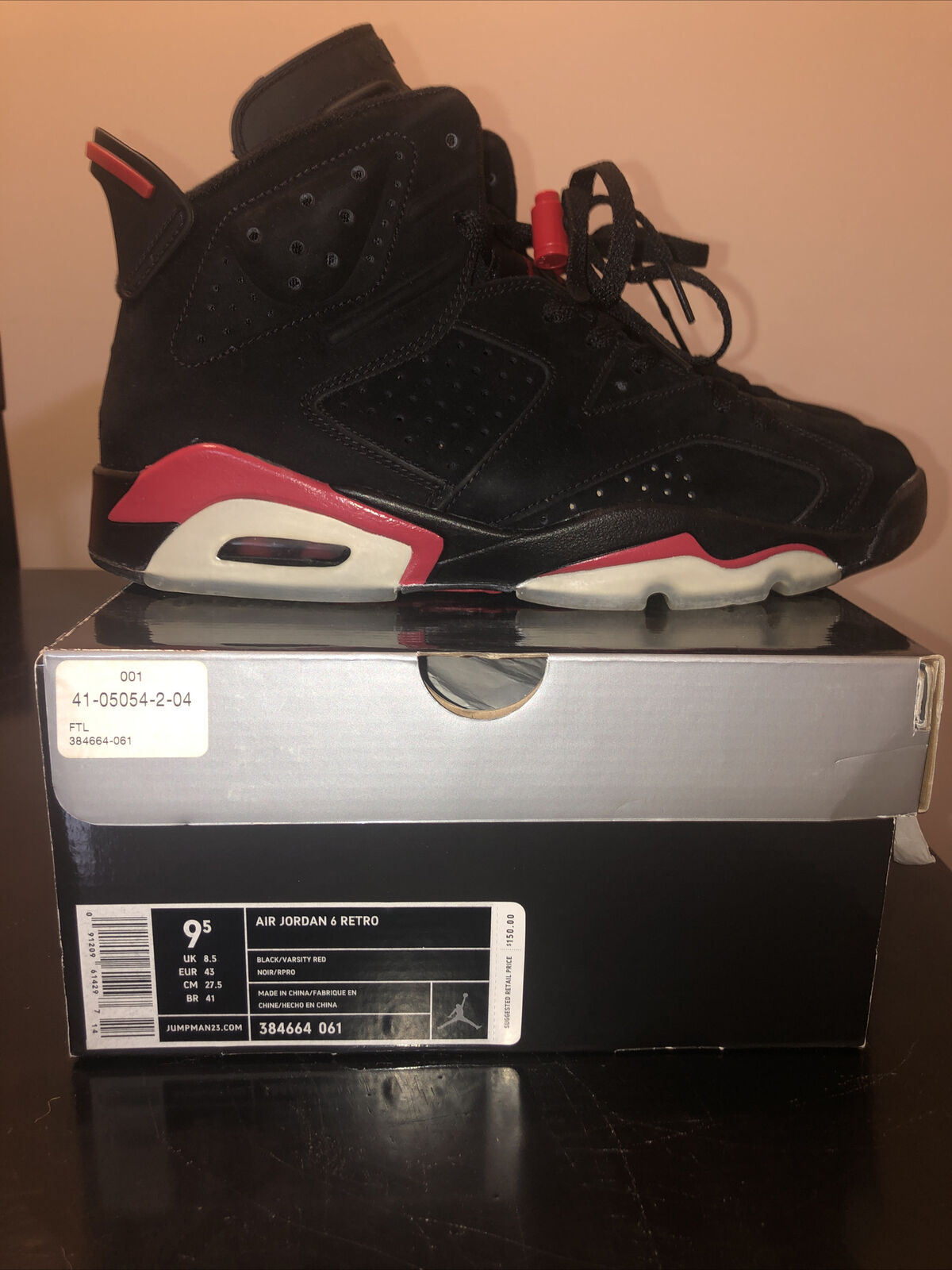 Size 9.5 - Jordan 6 Retro Varsity Red