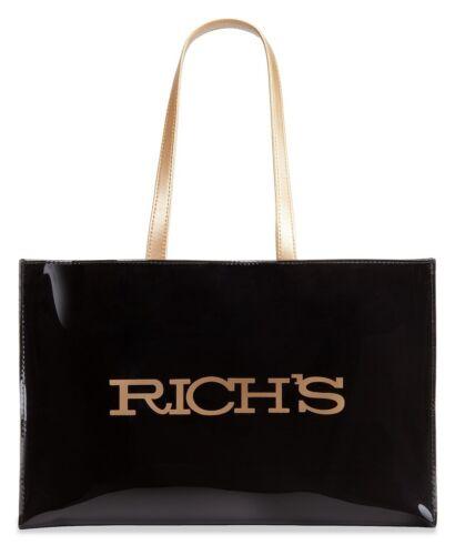 631839220026 dorado logo abierto Bolso negro de con Rich grande wS8q6S0