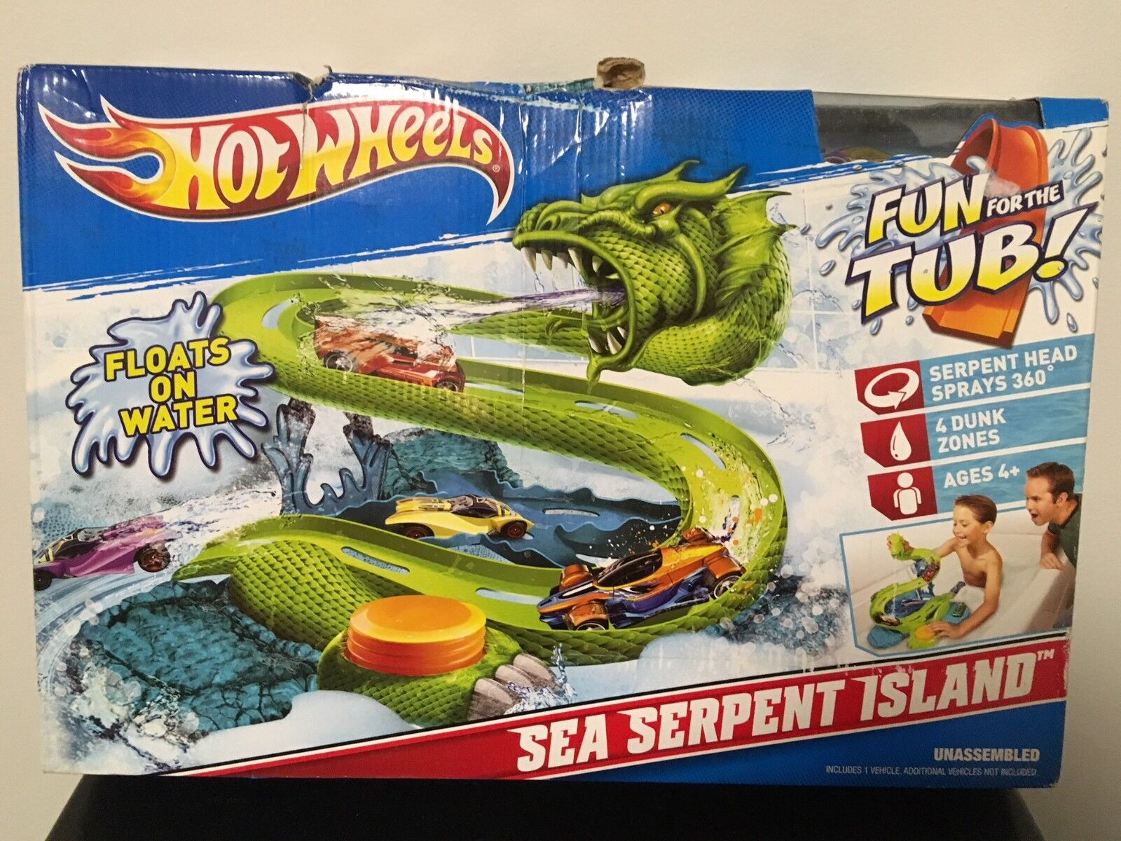 Hot Wheels Sea Serpent Island   Never Opened Factory Sealed  By Mattel 2010