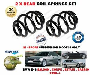 without Sports Suspension Rear Coil Spring Set Compatible with 1999-2000 BMW 323i Sedan