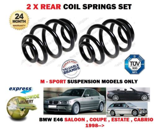 FOR BMW E46 M SPORT 320I 323i 325i 328i 330i 1998--/>NEW 2X REAR COIL SPRINGS SET