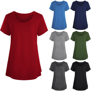 d93598a0827a6 Image is loading Womens-Pregnancy-T-Shirt-Blouse-Maternity-Short-Sleeve-