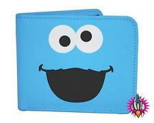 SESAME STREET COOKIE MONSTER RETRO BI FOLDING WALLET NEW AND GIFT BOXED