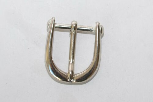 4x Solide Gürtelschnalle Schnalle Schließe aus 80ern für 20 mm Breite Silber