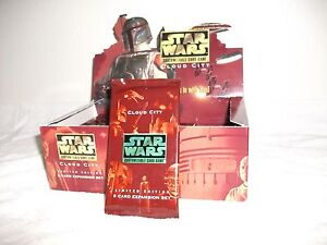 Star Wars CCG Factory Sealed Booster Pack Cloud City Limited