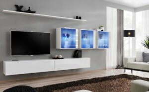 Exceptionnel Image Is Loading Shift 17 Modern Tv Wall Unit White And