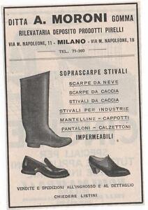 Pubblicita-vintage-STIVALI-SCARPE-MORONI-MILANO-advert-reklame-werbung-publicite