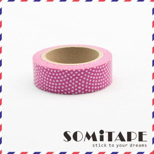 Artesanales Decorativos Cinta Rosa patrón punteado Washi Tape